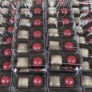 Boxed wedding chocolates