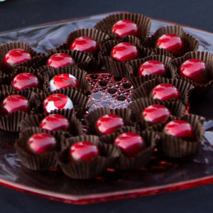 Passion fruit and peppermint truffles
